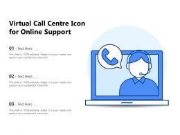 Virtual Call Centre Icon For Online Support