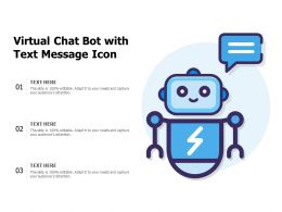 Virtual Chat Bot With Text Message Icon