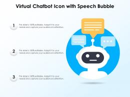 Virtual Chatbot Icon With Speech Bubble