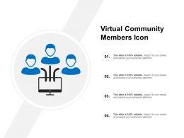 Virtual Community Members Icon