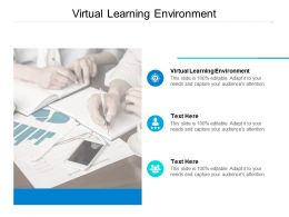 Virtual Learning Environment Ppt Powerpoint Presentation Summary Clipart Images Cpb