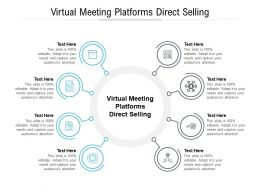 Virtual Meeting Platforms Direct Selling Ppt Powerpoint Presentation Model Visuals Cpb