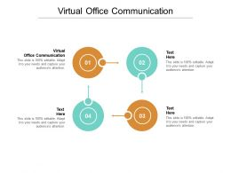 Virtual Office Communication Ppt Powerpoint Presentation Icon Grid Cpb