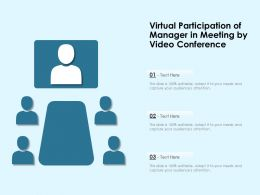 Virtual Participation Of Manager In Meeting By Video Conference