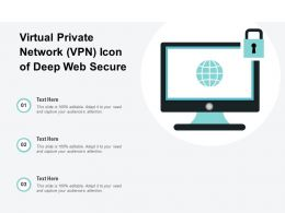 Virtual Private Network VPN Icon Of Deep Web Secure