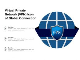 Virtual Private Network VPN Icon Of Global Connection