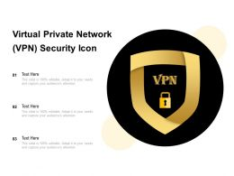 Virtual Private Network VPN Security Icon