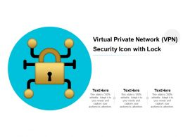 Virtual Private Network VPN Security Icon With Lock