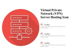 Virtual Private Network VPN Server Hosting Icon