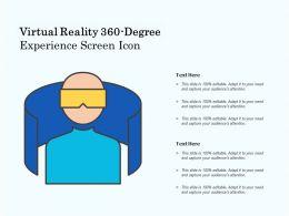 Virtual Reality 360 Degree Experience Screen Icon
