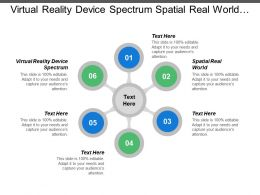 Virtual Reality Device Spectrum Spatial Real World Mixed Reality