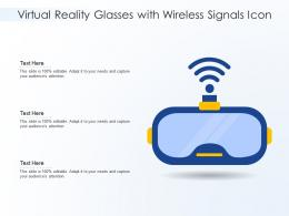 Virtual Reality Glasses With Wireless Signals Icon