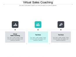 Virtual Sales Coaching Ppt Powerpoint Presentation Gallery Deck