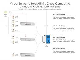 Virtual Server To Host Affinity Cloud Computing Standard Architecture Patterns Ppt Diagram