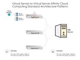 Virtual Server To Virtual Server Affinity Cloud Computing Standard Architecture Patterns Ppt Slide