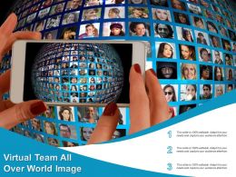 Virtual Team All Over World Image