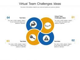 Virtual Team Challenges Ideas Ppt Powerpoint Presentation Ideas Designs Download Cpb