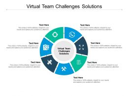 Virtual Team Challenges Solutions Ppt Powerpoint Presentation Pictures Mockup Cpb
