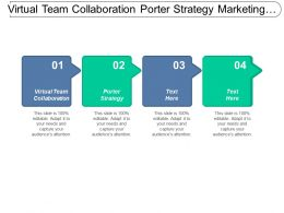 Virtual Team Collaboration Porter Strategy Marketing Management Strategy Cpb