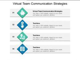 Virtual Team Communication Strategies Ppt Powerpoint Presentation Diagram Lists Cpb