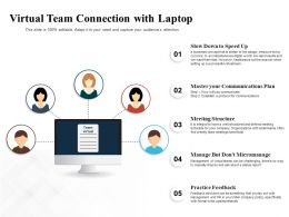Virtual Team Connection With Laptop
