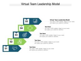 Virtual Team Leadership Model Ppt Powerpoint Presentation File Guide Cpb