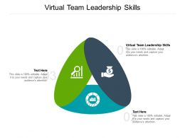 Virtual Team Leadership Skills Ppt Powerpoint Presentation Infographics Good Cpb