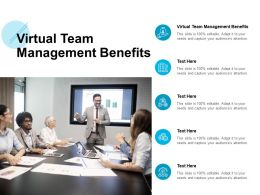 Virtual Team Management Benefits Ppt Powerpoint Presentation Pictures Cpb