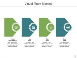 Virtual Team Meeting Ppt Powerpoint Presentation Layout Cpb