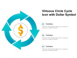 Virtuous Circle Cycle Icon With Dollar Symbol