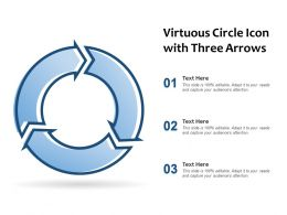Virtuous Circle Icon With Three Arrows