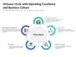 Virtuous Circle With Operating Excellence And Business Culture