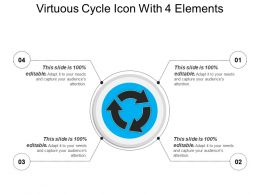 Virtuous Cycle Icon With 4 Elements