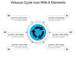 Virtuous Cycle Icon With 6 Elements