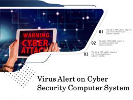 Virus Alert On Cyber Security Computer System