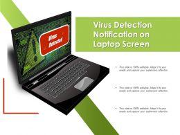 Virus Detection Notification On Laptop Screen
