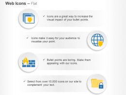 Virus Protection Firewall Data Safety Features Ppt Icons Graphics