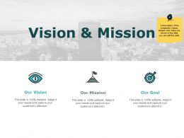 Vision And Mission Goal I245 Ppt Powerpoint Presentation Pictures Mockup