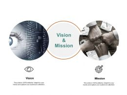 Vision And Mission Goal J129 Ppt Powerpoint Presentation File Tips