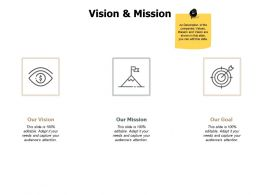 Vision And Mission Goal J131 Ppt Powerpoint Presentation Gallery Show