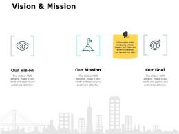 Vision And Mission Goal J197 Ppt Powerpoint Presentation File Vector