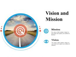 Vision And Mission Goal Ppt Powerpoint Presentation File Infographics
