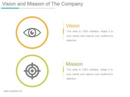 Vision And Mission Of The Company Ppt Background Designs