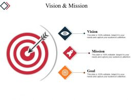 Vision And Mission Powerpoint Slide Clipart