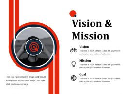 Vision And Mission Ppt Slides Demonstration