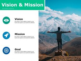 Vision And Mission Ppt Slides Vector