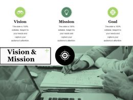 Vision And Mission Ppt Visual Aids Professional