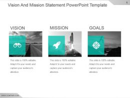 Vision And Mission Statement Powerpoint Template