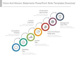 Vision And Mission Statements Powerpoint Slide Templates Download