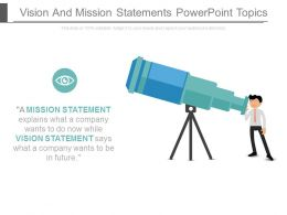 Vision And Mission Statements Powerpoint Topics